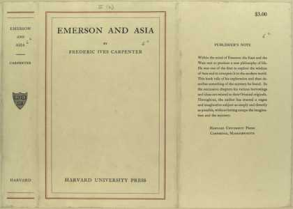 Dust Jackets - Emerson and Asia.