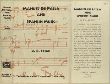Dust Jackets - Manuel de Falla and Spani