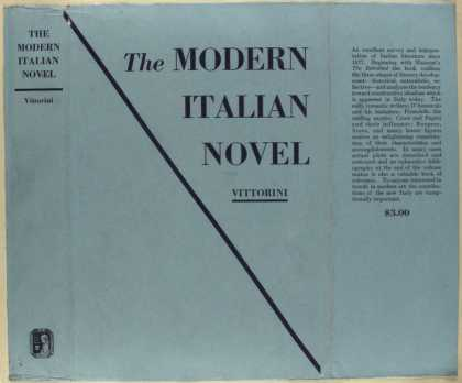 Dust Jackets - The modern Italian novel.