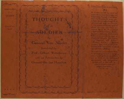 Dust Jackets - Thoughts of a soldier.