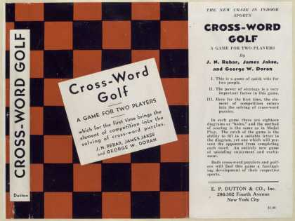 Dust Jackets - Cross-word golf, a game f