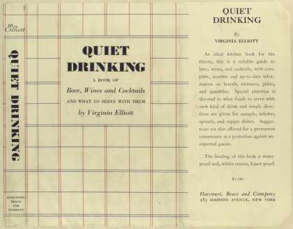 Dust Jackets - Quiet drinking : a book o
