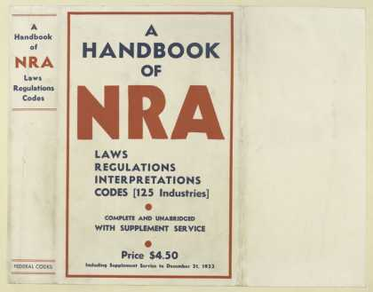 Dust Jackets - A handbook of NRA laws,