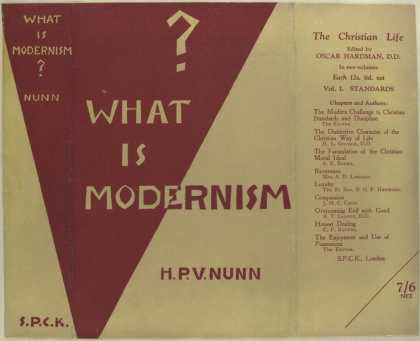 Dust Jackets - What is modernism?