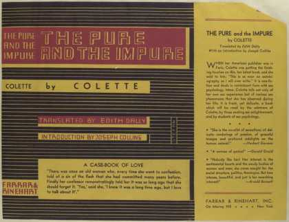 Dust Jackets - The pure and the impure,