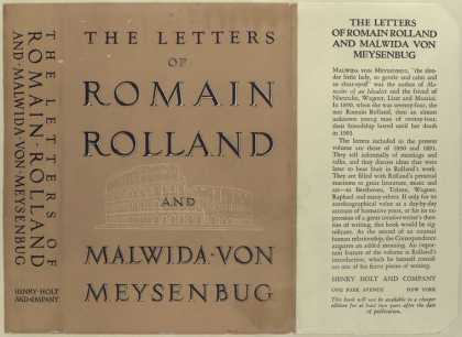 Dust Jackets - The letters of Romain Rol