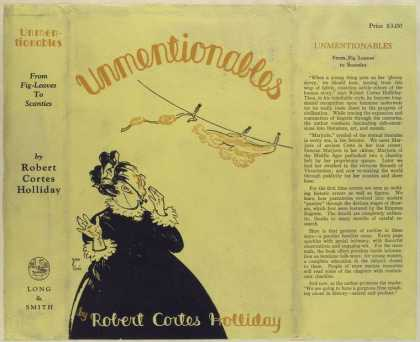 Dust Jackets - Unmentionables.