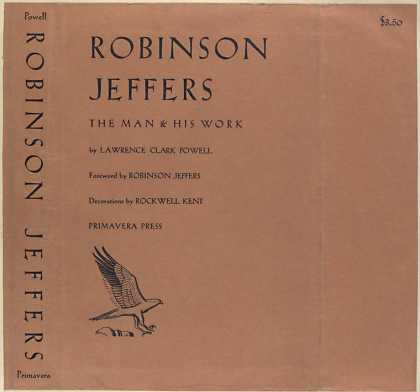 Dust Jackets - Robinson Jeffers, the man