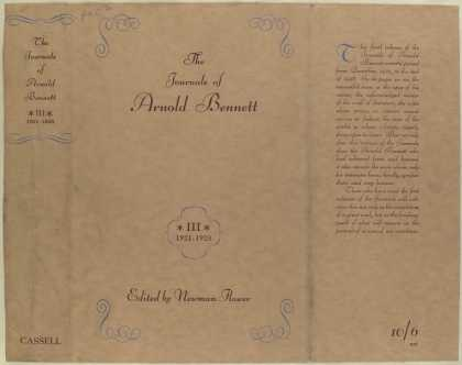 Dust Jackets - The journals of Arnold Be