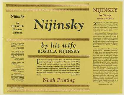Dust Jackets - Nijinsky, by Romola Nijin