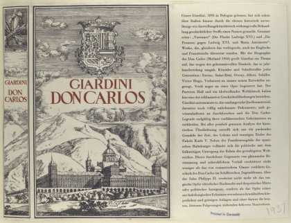 Dust Jackets - Don Carlos / Giardini.