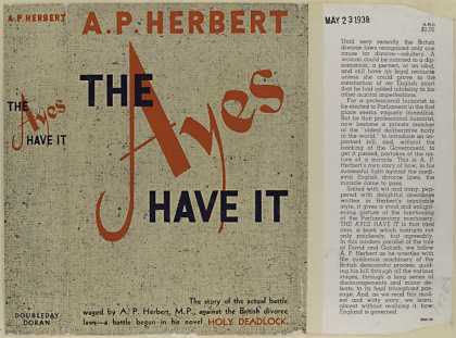 Dust Jackets - The ayes have it / A.P. H