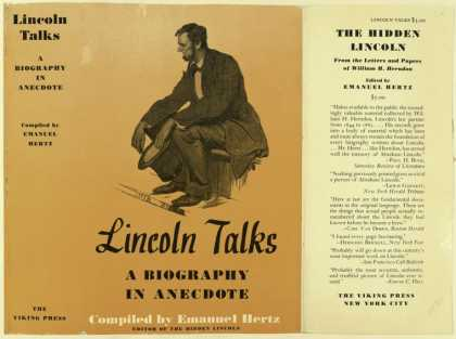 Dust Jackets - Lincoln talks a biograph