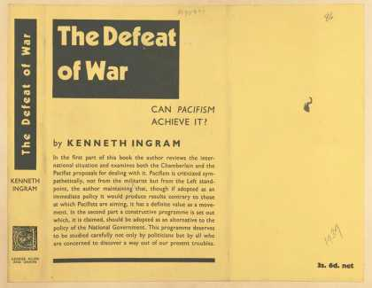 Dust Jackets - The defeat of war: can pa