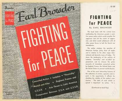 Dust Jackets - Fighting for peace.