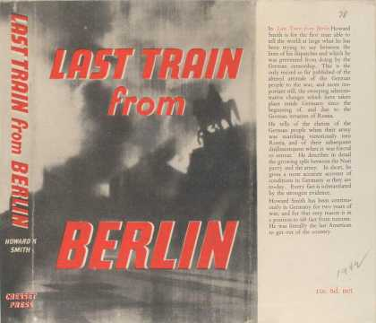 Dust Jackets - Last train from Berlin.