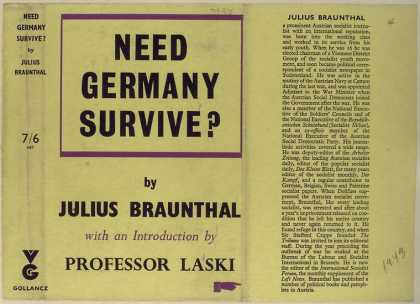 Dust Jackets - Need Germany survive?