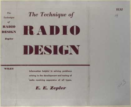 Dust Jackets - The technique of radio de