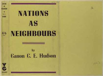 Dust Jackets - Nations as neighbors.
