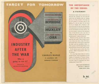 Dust Jackets - Industry after the war :