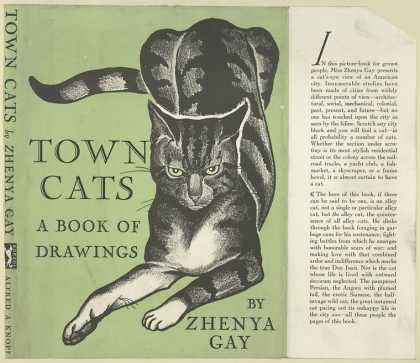 Dust Jackets - Town cats: a book of draw