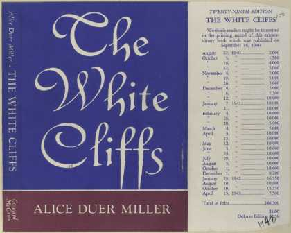 Dust Jackets - The white cliffs.