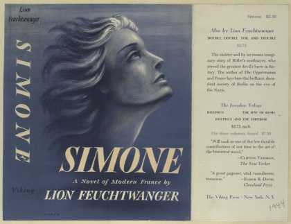 Dust Jackets - Simone a novel of modern