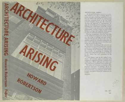 Dust Jackets - Architecture arising.