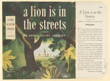 Dust Jackets - A lion is in the streets,