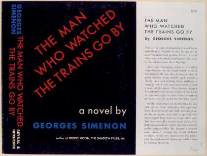 Dust Jackets - The Man who watched the T