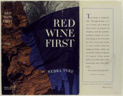 Dust Jackets - Red Wine First, by Nedra