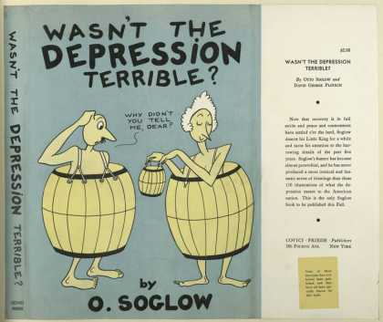 Dust Jackets - Wasn't the depression ter
