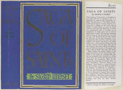 Dust Jackets - Saga of saints.