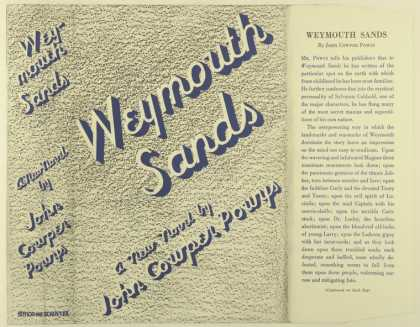 Dust Jackets - Weymouth sands, a new nov