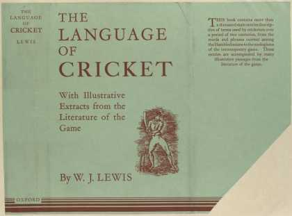 Dust Jackets - The language of cricket,