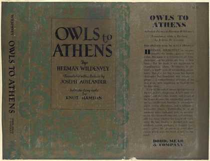 Dust Jackets - Owls to Athens.
