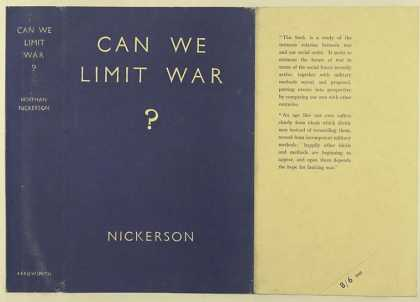 Dust Jackets - Can we limit war?