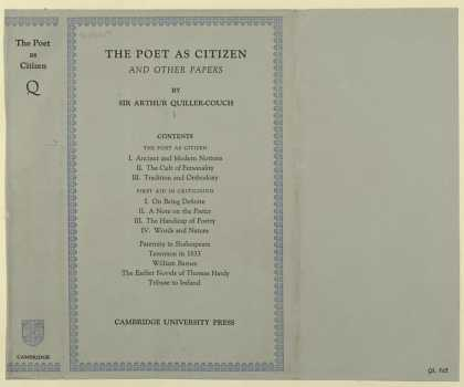 Dust Jackets - The poet as citizen, and
