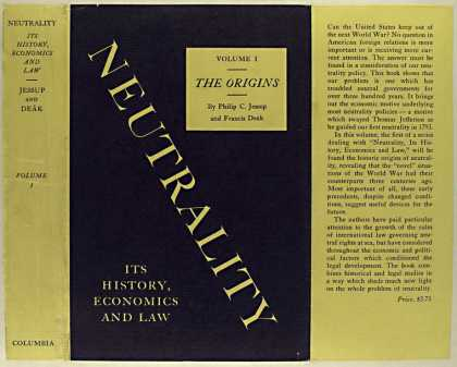 Dust Jackets - Neutrality, its history,