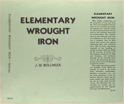 Dust Jackets - Elementary wrought iron [