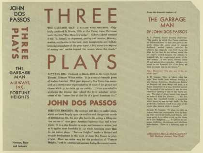 Dust Jackets - Three plays The garbage