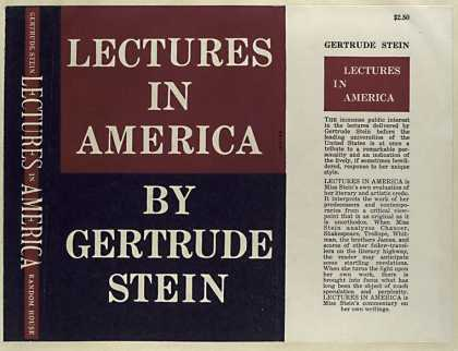 Dust Jackets - Lectures in America.