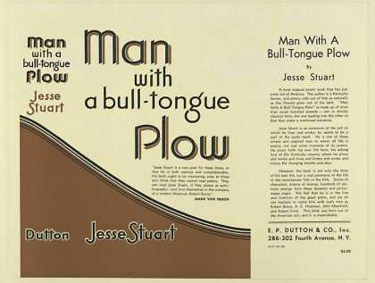 Dust Jackets - Man with a bull-tongue pl