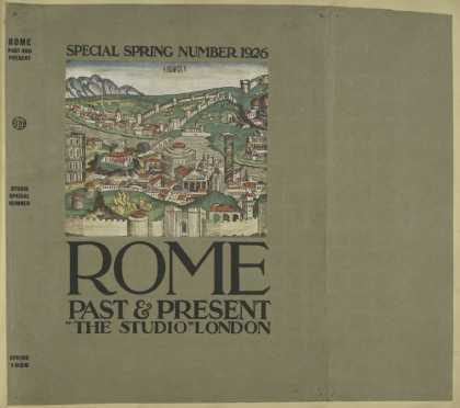 Dust Jackets - Rome, past and present. (