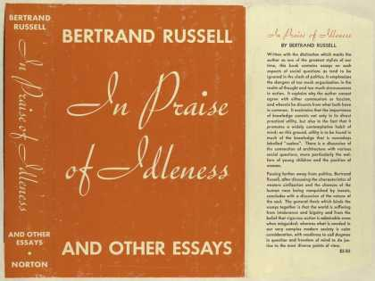 Dust Jackets - In praise of idleness and
