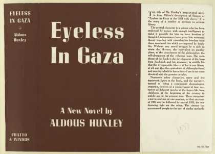 Dust Jackets - Eyeless in Gaza / Aldous