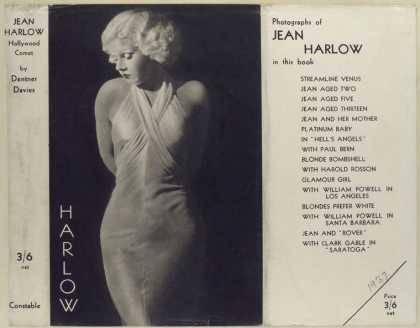 Dust Jackets - Jean Harlow, Hollywood co