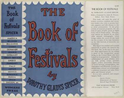 Dust Jackets - The book of festivals / b