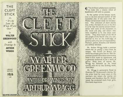 Dust Jackets - The cleft stick / Walter
