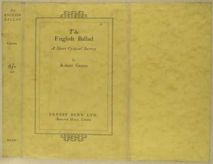 Dust Jackets - The English ballad, a sho